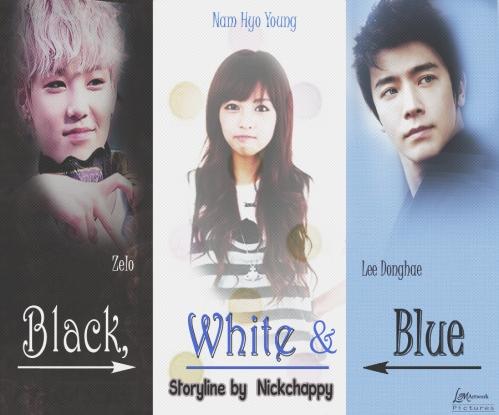Black white blue request